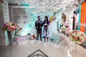 resepsi pernikahan dengan dekorasi dari winwin decoration